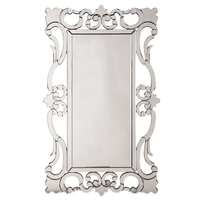 Rebecca Mirrored Scroll Mirror