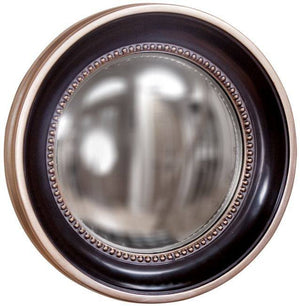 Patterson Convex Decorative Mirror Black Mirrors Howard Elliott