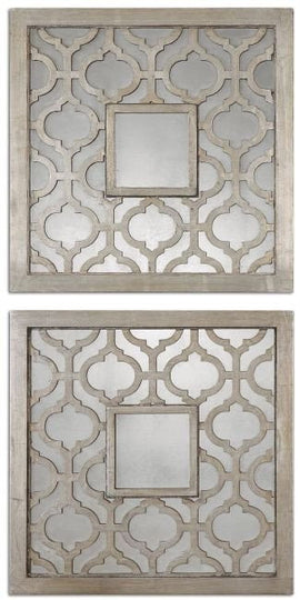 "Sorbolo Squares Mirror Set of Two 20""x20""x1"" - Classy Mirrors"