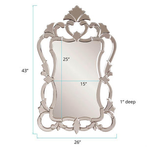 "Contessa Venetian Ornate Mirror 26""x43""x1"" Ornate Mirrors Howard Elliott"