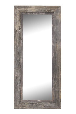 "Coastal II Distressed Gray Driftwood Mirror Rustic Mirrors Hitchcock Butterfield 25.5"" x 61.5"" No Bevel"