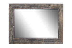Coastal II Distressed Gray Driftwood Mirror Rustic Mirrors Hitchcock Butterfield