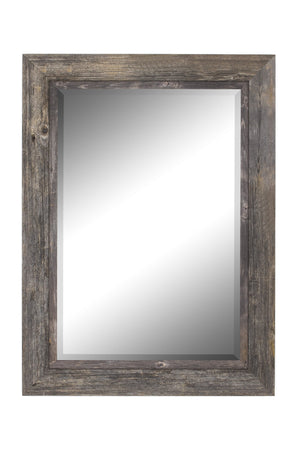 "Coastal II Distressed Gray Driftwood Mirror Rustic Mirrors Hitchcock Butterfield 28.5"" x 38.5"""
