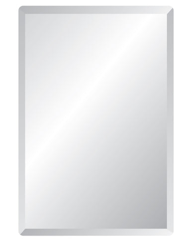 "Rectangle Frameless Mirrors Frameless Mirrors Spancraft Glass 18""x40"""