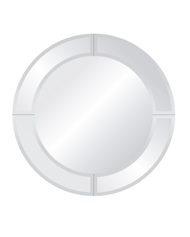 Royal Round Overlay Mirror Frameless Mirrors Spancraft Glass 24""