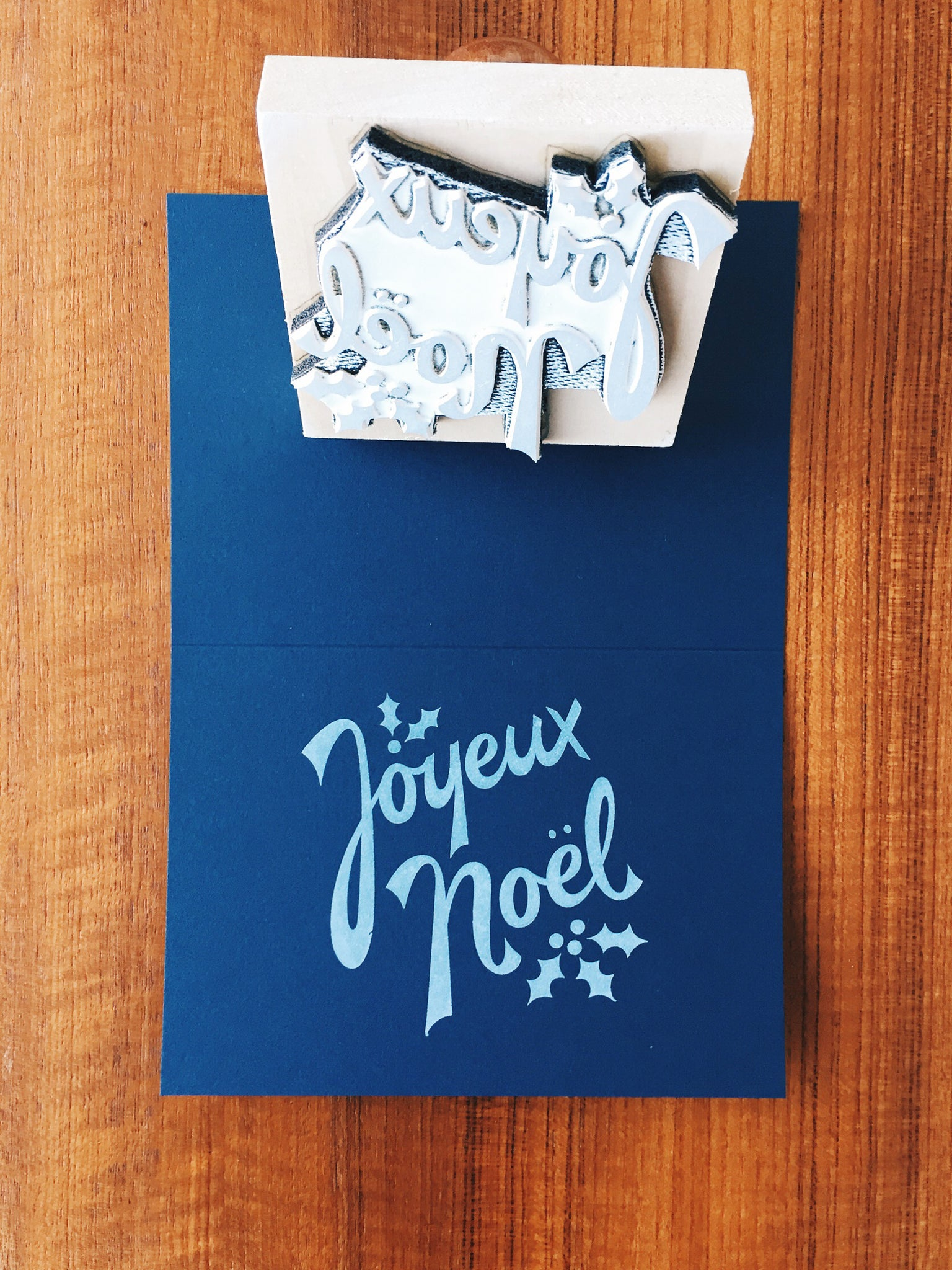 Joyeux Noël and Lumi rubber stamp.