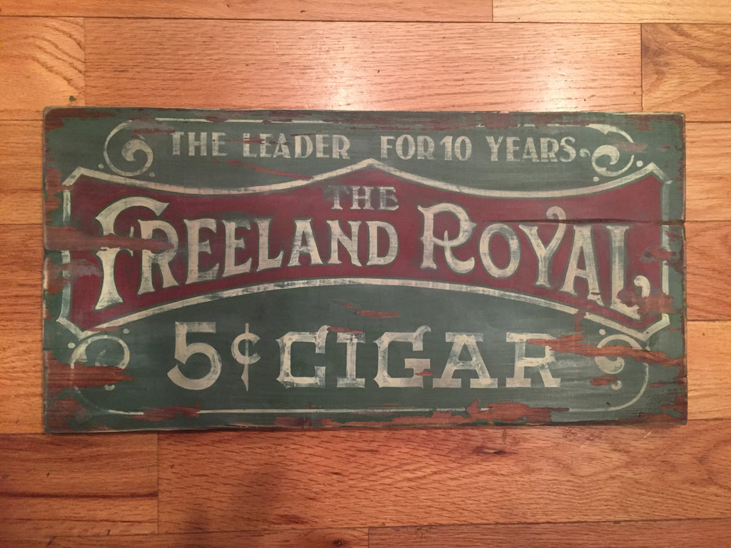 Freeland Royal sign by Gary Godby