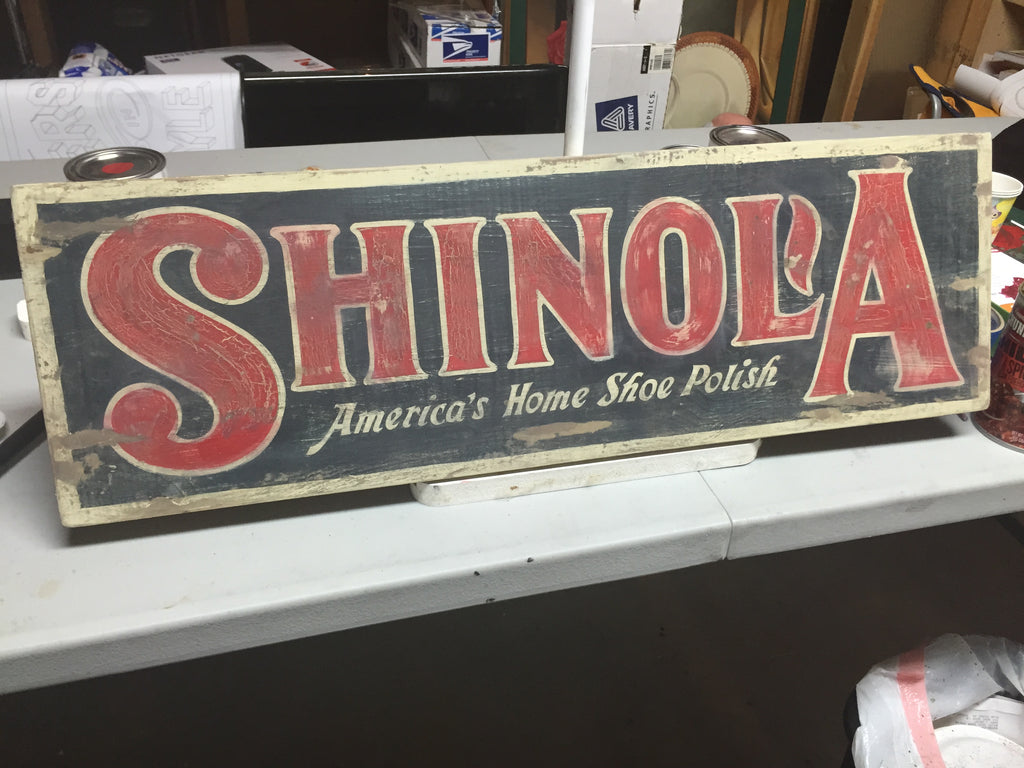Shinola sign by Gary Godby