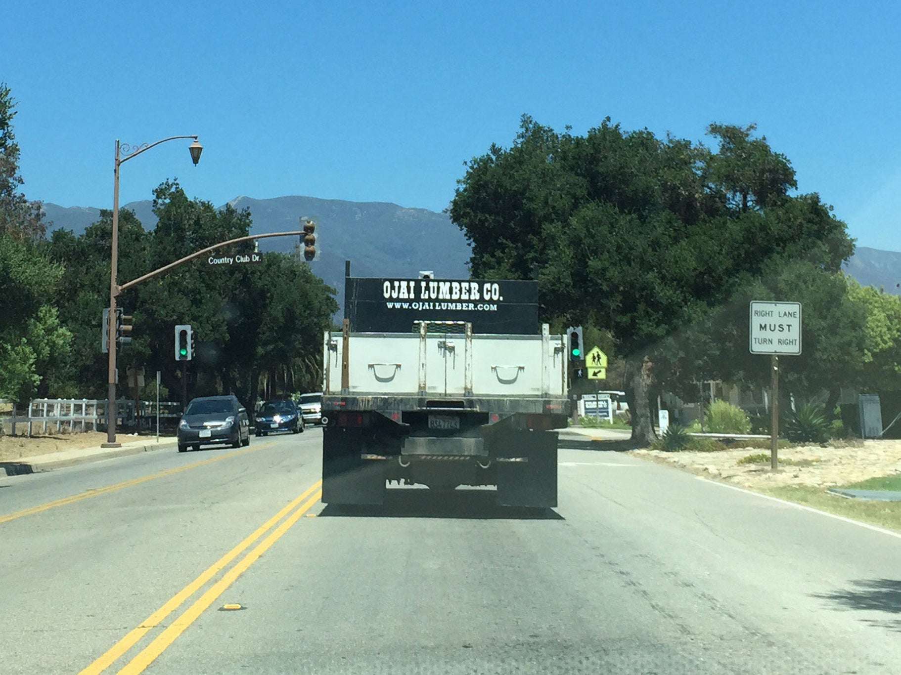 My original inspiration for Lumber Co. was this truck driving into Ojai, California.