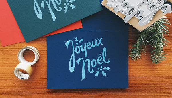 Joyeux Noël Greeting Card