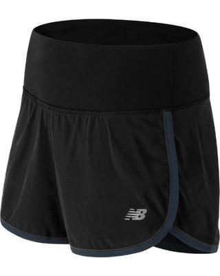 APPAREL - NEW BALANCE - NEW BALANCE WOMEN'S IMPACT 3 INCH SHORT - XS / BLACK WITH OUTER SPACE - XS - BLACK WITH OUTER SPACE -  - Go Run Miami