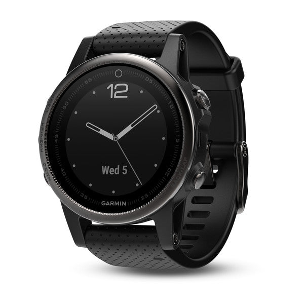 Garmin Fenix 5S Sapphire, Black with Black Band