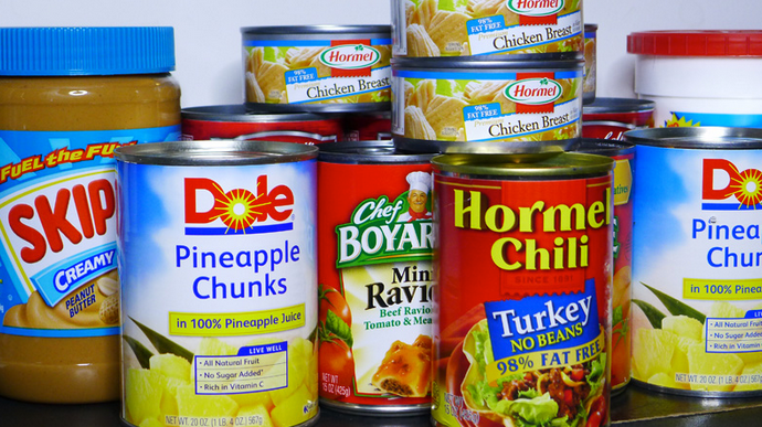 canned pantry foods