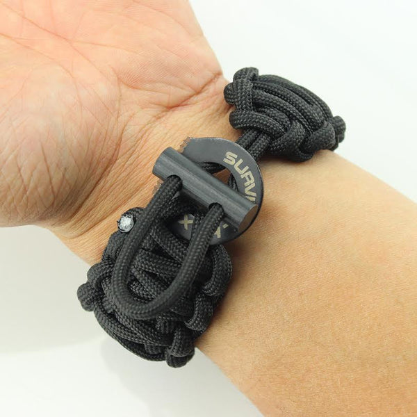Adjustable Paracord Bracelet Survival Hax