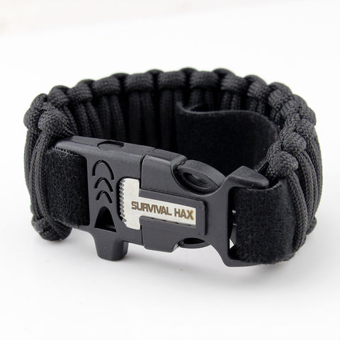 Survival Paracord Bracelet with Adjustable Velcro Strap