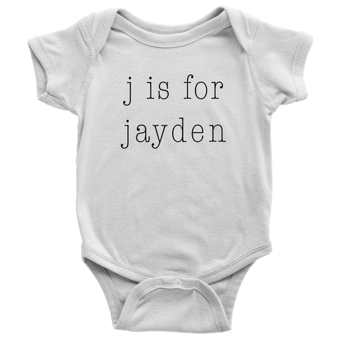 Initial and Name Baby Bodysuit Custom Name