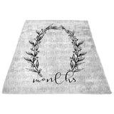 Ella Wreath Milestone Blanket- FLEECE - Limited Edition