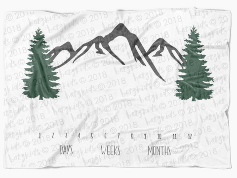 Mountain Milestone Blanket - FLEECE, Limited Edition