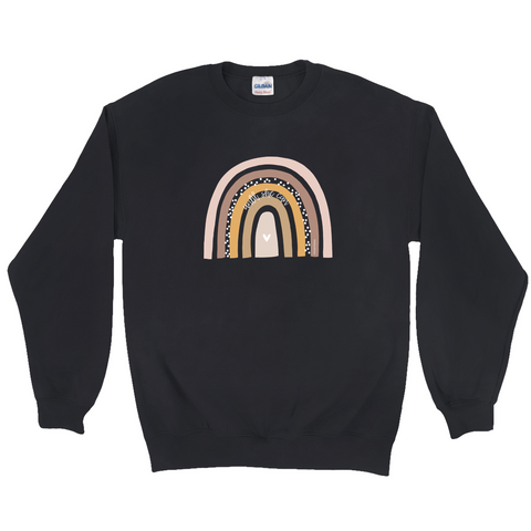 Rett Syndrome Fundraiser - Rainbow Black Sweatshirt