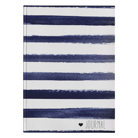 Black and White Stripe Gender Neutral Journal