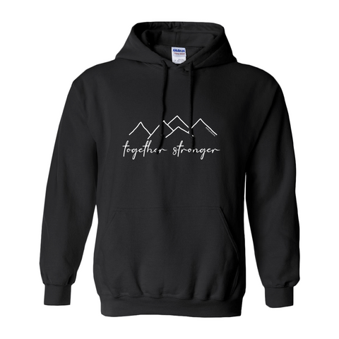 Rett syndrome Fundraiser Black Hoodie Mountains