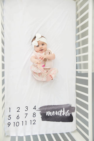 BrushStroke Milestone Crib Sheet