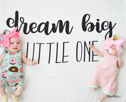 """Dream Big Little One"" For A Cause Muslin Swaddle"