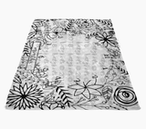 Flower Power Milestone Blanket - Contest Winner FLEECE blanket, Limited Edition