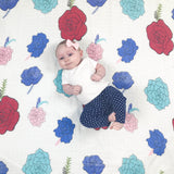 Flower Muslin Swaddle Blanket