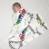 Train Swaddle Blanket