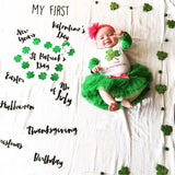 """My First"" USA Holiday Baby Milestone Blanket™"