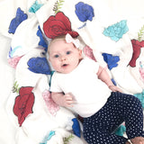 Flower Swaddle Blanket
