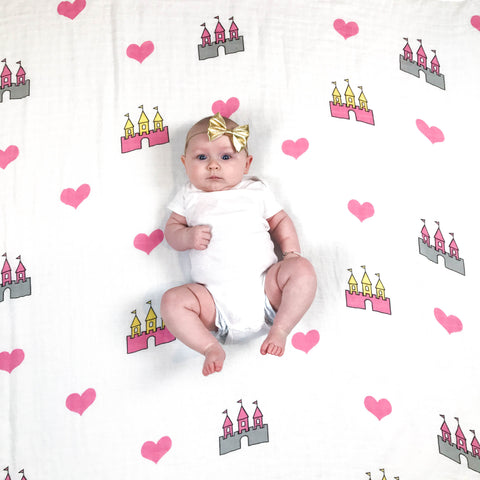 Castle Swaddle Blanket
