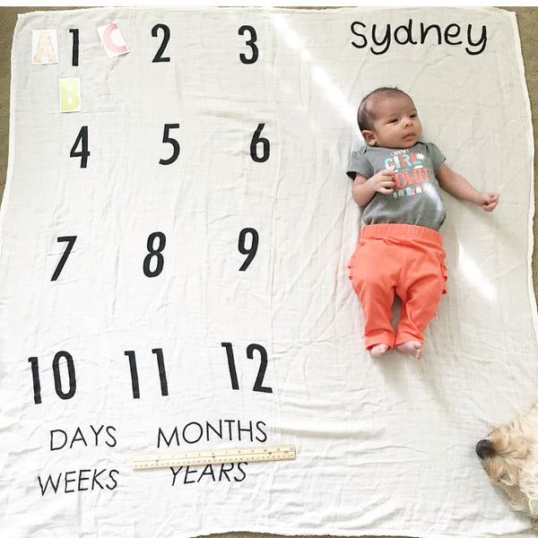 Yearly Milestone Blanket Days Weeks Months And Years