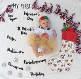 "Signature ""My First"" USA Holiday Baby Milestone Blanket™"