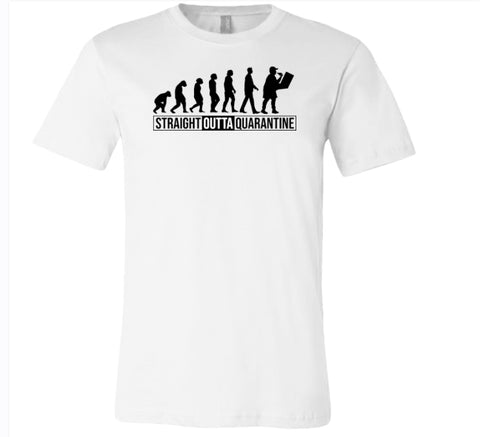 Straight Outta Quarantine Evolution 2020 T-Shirt