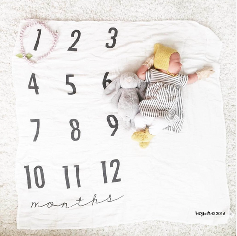 Baby Monthly Milestone Blanket™ Ready to ship