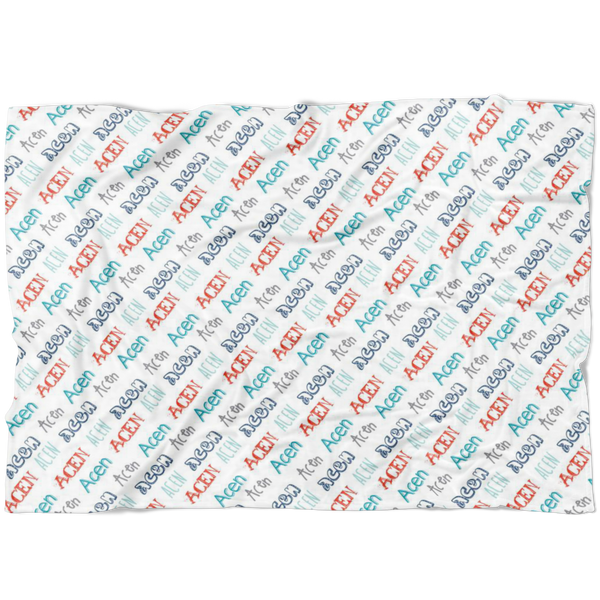 Custom Name Blanket Acen Font - FLEECE