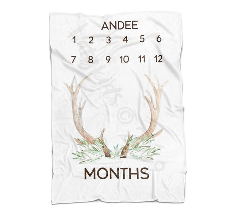 Antler Milestone Blanket- Limited Edition- FLEECE