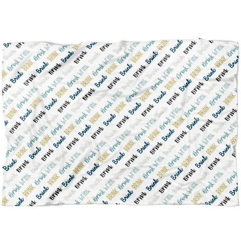 Custom Name Blanket Brink Font - FLEECE