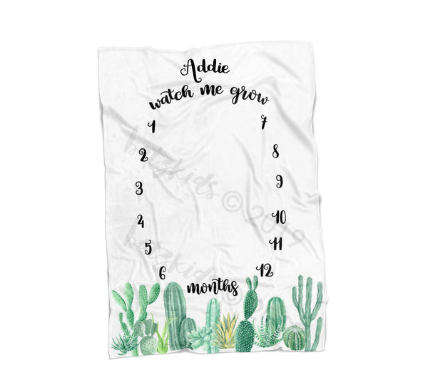 Cactus Milestone Blanket - FLEECE - Limited Edition