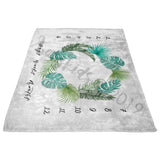 Tropical Milestone Blanket - Designed by Electric Eunice - FLEECE