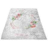 Blooming Floral Milestone Blanket - FLEECE