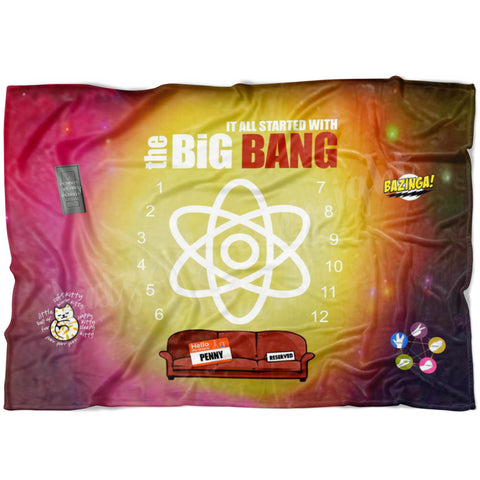 Big Bang Theory Milestone Blanket - Limited Edition - FLEECE