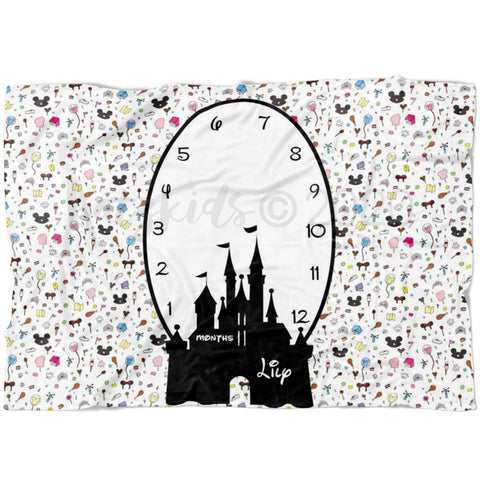 Magical Castle Milestone Blanket - FLEECE - Limited Edition
