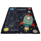 Space Rocket  Milestone Blanket - Limited Edition - FLEECE