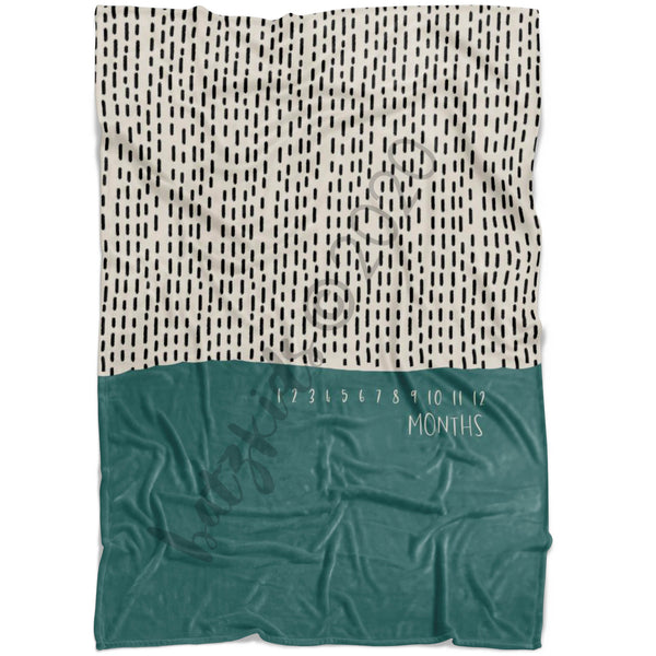 Boho Zurry Milestone Blanket - FLEECE - Limited Edition