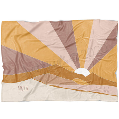 Boho Sands Milestone Blanket - FLEECE - Limited Edition
