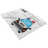 Police Car Milestone Blanket - Limited Edition FLEECE
