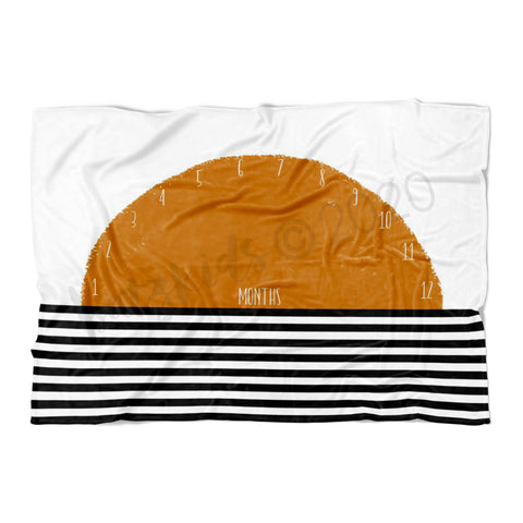 Boho Orange Sun Milestone Blanket- FLEECE - Limited Edition